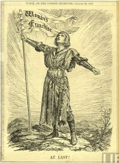 Woman's franchise, Punch, January 23, 1918    Joan of Arc