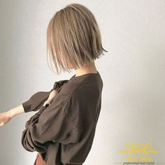 Tóc bob ép bằng nhuộm nâu khói Natural Hair Styles, Short Hair Styles, Girl Hair Colors, Hair Arrange, French Twist Hair, Salon Style, Hair Images, Girl Short Hair, How To Draw Hair
