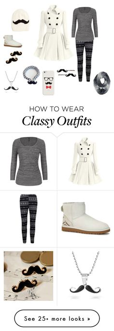 """""""mustache"""" by thebaeofgirls on Polyvore featuring maurices, UGG Australia, Bling Jewelry and Casetify"""
