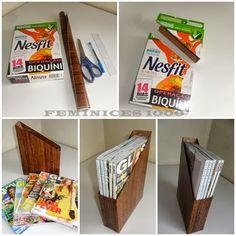 ORGANIZA A VIDA: DIY Porta revistas/livros