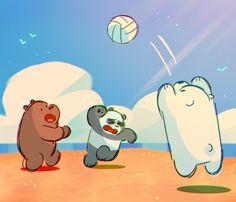 We Bare Bears by Christina Chang Cartoon Shows, Cartoon Pics, Cartoon Characters, Ice Bear We Bare Bears, We Bear, Bear Tumblr, Armadura Cosplay, Adventure Time Wallpaper, We Bare Bears Wallpapers