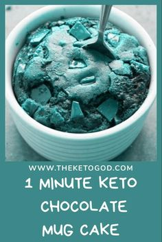 This 1 Minute Keto Chocolate Mug Cake is easy & quick to make plus it taste oh so delicious. This is one of my favorite keto desserts and Keto mug cakes #ketodessert #ketodessertrecipes #keto #ketodiet #ketorecipes #ketogenicdiet #ketorecipeseasy #ketogenicrecipes ...ing homemade ice cream to pair with these cookies only makes for tastier treat My kids cant get enough of the rich chocolate taste of these cookies co...side3 Place the 8 ounces of chocolate and the butter in a large heatproof… Healthy Chocolate Desserts, Keto Chocolate Mug Cake, Healthy Fruit Desserts, Easy Summer Desserts, Keto Mug Cake, Desserts For A Crowd, Low Carb Chocolate, Chocolate Treats, Paleo Dessert