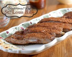 Drive your neighbors nuts and make these in a smoker using the 3-2-1 method for ribs. The smell will drive them wild! Traditional Rub for St. Louis Ribs #AllstarsSmithfield #GetFiredUpGrilling