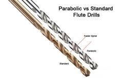 Parabolic vs Standard Flute Twist Drills