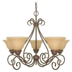 $128.65 - Nuvo 60/1023 5 Light Chandelier with Champagne Glass Shades by Nuvo, http://www.amazon.com/dp/B0015N37T2/ref=cm_sw_r_pi_dp_wA1qrb030E9QS