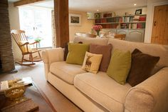 The Lounge in Copper Kettle Cottage at Love North Devon.