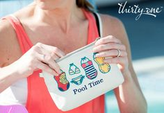 Thirty-One Gifts - Pool Time...Take this Creative Expressions Mini Zipper Pouch with Sweet Suits with you!  Www.mythirtyone.com/tcwoolley
