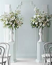 All White Flower Arrangement  Weddings