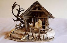 Krippenbauer Ehrhardt Krippenimpressionen - Kleine Krippen Christmas Grotto Ideas, Christmas Crib Ideas, Christmas Crafts To Sell, Christmas Nativity, Christmas Items, Christmas Art, Christmas Decorations, Teacher Birthday Gifts, 50th Birthday Cards