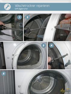 Ist beim Trockner der Griff abgebrochen, herrscht oft Verzweiflung. Grundlos! Denn wir zeigen, wie sich der Wäschetrockner reparieren lässt!