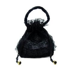 Black Deathrock Gothic Lolita Cinch Purse / Handbag