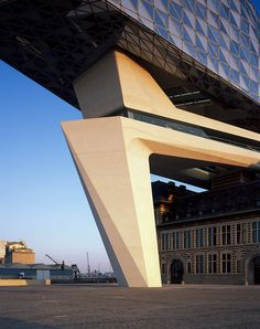 zaha hadid architects antwerp new port house belgium designboom