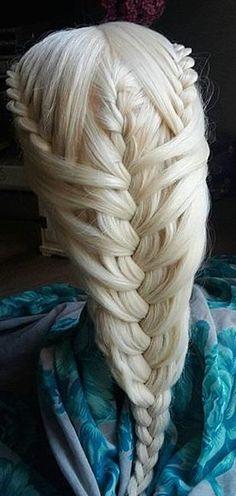 Blonde mermaid braids.