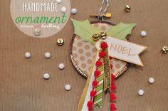 handmade embroidery hoop ornament