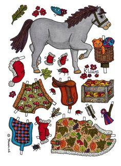 Heste i farver. Påklædningsdukker. Paper Dolls Horses in colours. – Karen Bisgaard – Picasa Nettalbum