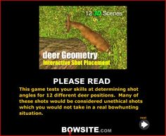 Here's a link the the shot placement game. http://bowsite.com/bowsite/features/articles/deer/deergeometry/
