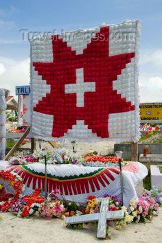 Tongan graveyard scene