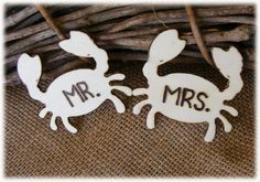 Rustic Wooden MR. & MRS. Crab style wedding by BeforeYouSayIDo