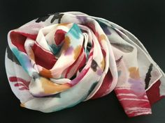 Abstract art on silk scarf . Etsy shop https://www.etsy.com/listing/243475426/handpainted-silk-scarf-with-abstract