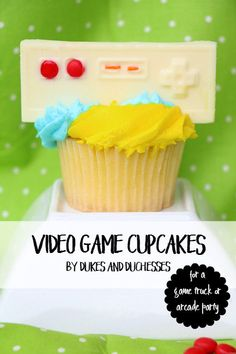 These video game cupcakes are the perfect dessert for a video game or arcade party!