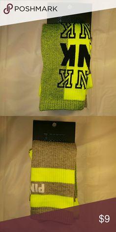 PINK Socks Bundle #2 PINK Socks Bundle Two pairs of socks Neon Yellow/Black Gray/Neon Yellow PINK Victoria's Secret Accessories