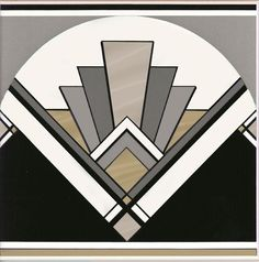 Art Deco inspired patterns are huge at the moment, thanks to The Great Gatsby. Bring the clean lines and bold symmetry into your home. Art Deco fan tile by Original Style.: