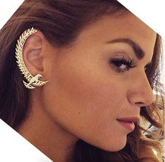 Customers wearing Banneya products | Bird cuff earring by Georgia Hardinge for Banneya. Georgia Hardinge, Cuff Earrings, London, Bird, How To Wear, Shoes, Jewelry, Products, Fashion