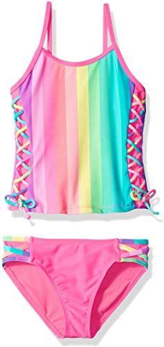 d2d7077a7b Best Seller Angel Beach Big Girls' Tankini Swimsuit Set Lace Side online
