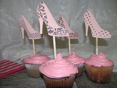 Chic Bridal Shower High Heel Shoe Toppers   by BridesandBellas, $8.00