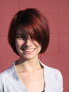 layered bob haircut - not over-styled!