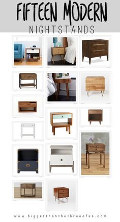 15 Modern Nightstand Options for your bedroom.