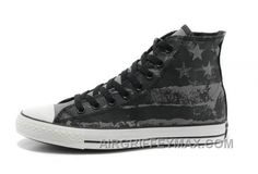 ca782cae2f7 Discount Unisex CONVERSE American Flag Black Grey Graffiti Print Chuck  Taylor All Star Canvas Sneakers