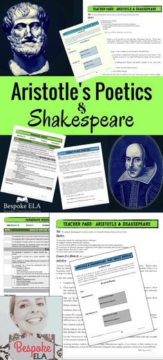 This lesson from Bespoke ELA takes students through a close reading of excerpts from Aristotle's Poetics and then has them apply Aristotle's literary theories to Shakespeare's tragedies.  This is an excellent addition to any Shakespearean unit-- Macbeth, Romeo and Juliet, Othello, Hamlet, Julius Caesar, King Lear, etc.