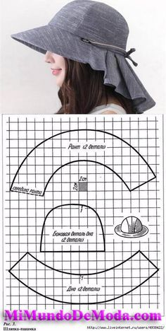Damenhut # costura # costura - My CMS Hat Patterns To Sew, Dress Sewing Patterns, Clothing Patterns, Knitting Patterns, Sewing Hacks, Sewing Tutorials, Sewing Tips, Costura Fashion, Fashion Sewing