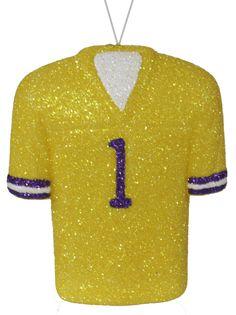 "4.5""H FOOTBALL JERSEY ORNAMENT - LSU ALT. #football #jersey #lsu #craigbachman #tigers"
