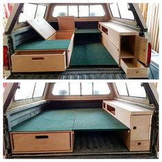 Finished I think this project came out perfect for the customers needs. Single sleeper for solo/day trips, put the bed piece up to sleep two and hide boards underneath. All kinds of storage everywhere while keep it simple! He is picking it up tomorrow and I'm sure he will be stoked! Full video: https://youtu.be/Cr2969PRbKI #storagesystem #adventuretruck #overlanding #overland #woodwork #truckcamper #camping #bajasurftrip