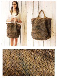 """Handmade woven leather bag """"INTRECCIATO 71"""" di LaSellerieLimited su Etsy"""