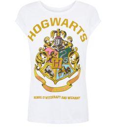 Tall White Hogwarts Harry Potter T-Shirt