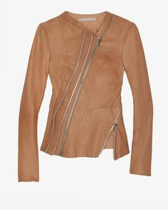 Willow Zippered Leather Peplum Jacket on shopstyle.com
