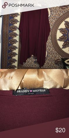 NWOT Brandy Melville kimono! NWOT Brandy Melville maroon kimono! Color and style is SO cute! So easy to pair with practically any outfit! Brandy Melville Tops
