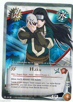 N-322 Haku Gold Letters Rare Naruto Card FREE COMBINED SHIPPING