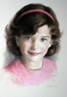 Portrait of girl in pink by Christy Talbott