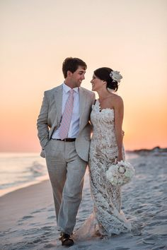 This may be the most perfect beach wedding dress...