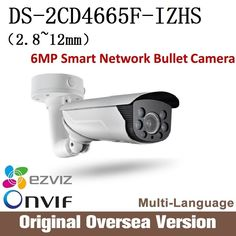 642.00$  Buy now - http://aliw44.worldwells.pw/go.php?t=32783969849 - HIK DS-2CD4665F-IZS 2.8-12mm Ip Camera  6MP Smart IP Vandal-proof Bullet Camer audio Ip66 H264 Onvif RJ45 English Version