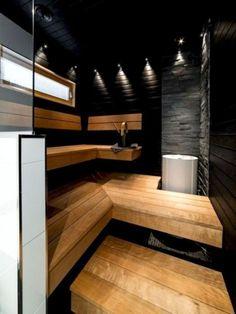 38 Awesome Home Sauna Design Ideas - Popy Home Modern Master Bathroom, Bathroom Spa, Small Bathroom, Sauna Shower, Sauna Design, Outdoor Sauna, Steam Sauna, Sauna Room, Spa Rooms