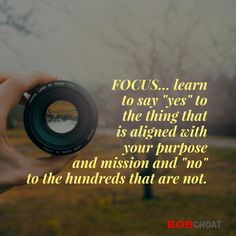 When you're out of focus, you'll end up doing things that will keep you from moving forward and growing. Make FOCUS the word of the year! Eliminate distractions and stop multitasking.