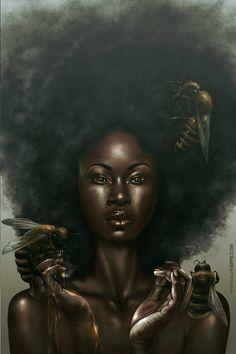"""Honeycomb"" illustration by Alvin Epps"