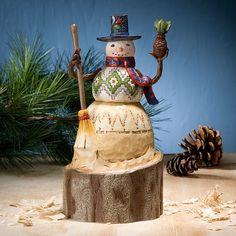 Jim Shore Lodge Snowman Welcome