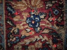 White knots are an inherent characteristic of oriental rugs. This is where the warp cords have been spliced together while still on the loom. As the rug wears, they show through the pile of the rug as a small white knot.