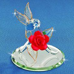 Glass Baron Hummingbird Figurine #glassbaron #glass #figurine